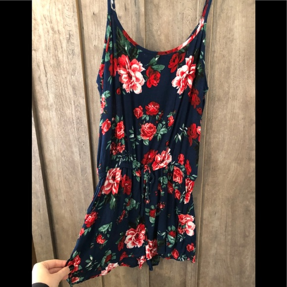 Forever 21 Dresses & Skirts - navy floral romper• new with tags • size small